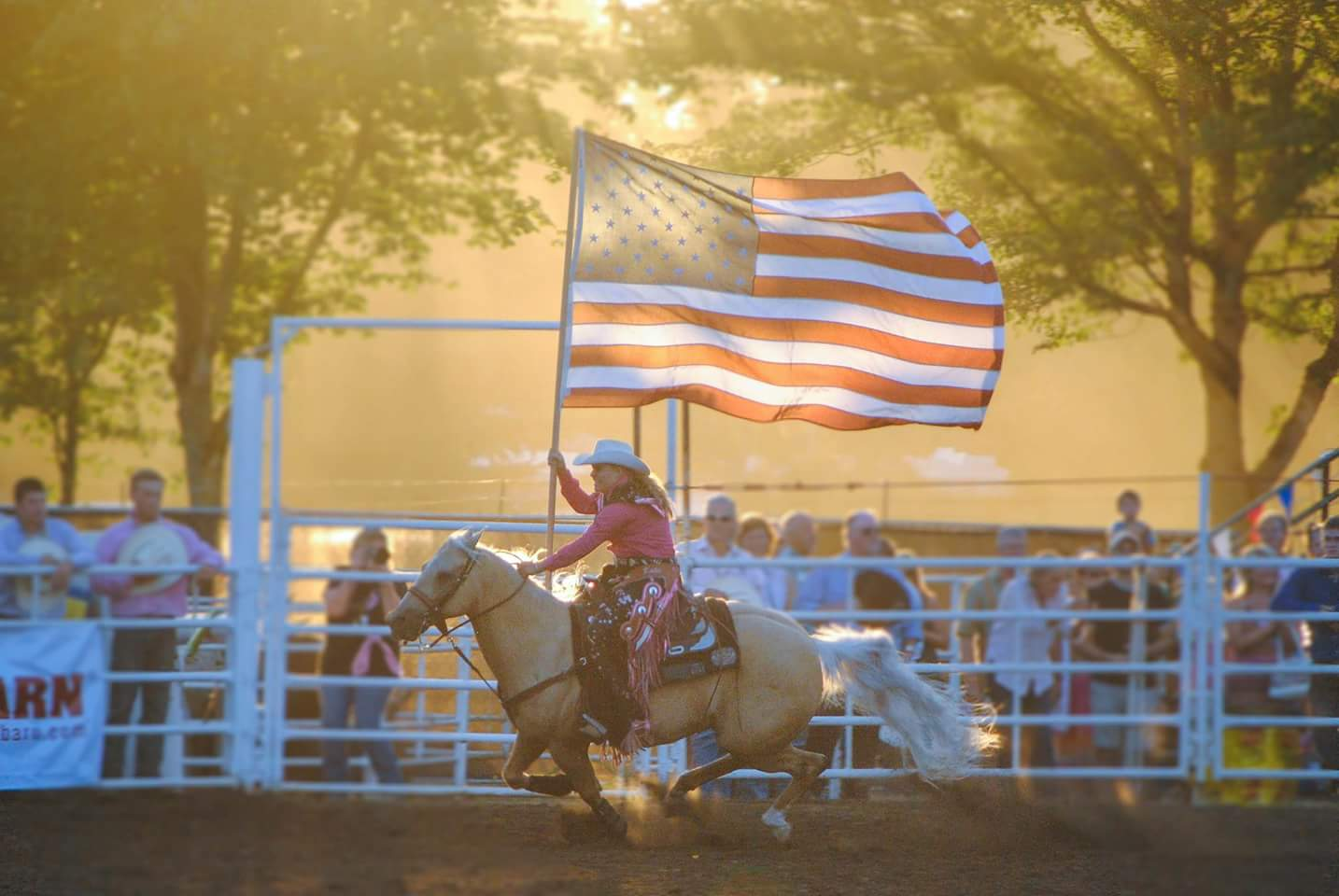 Rodeo Flag, Canby, OR (Photo by Katie and Emily Trapp)