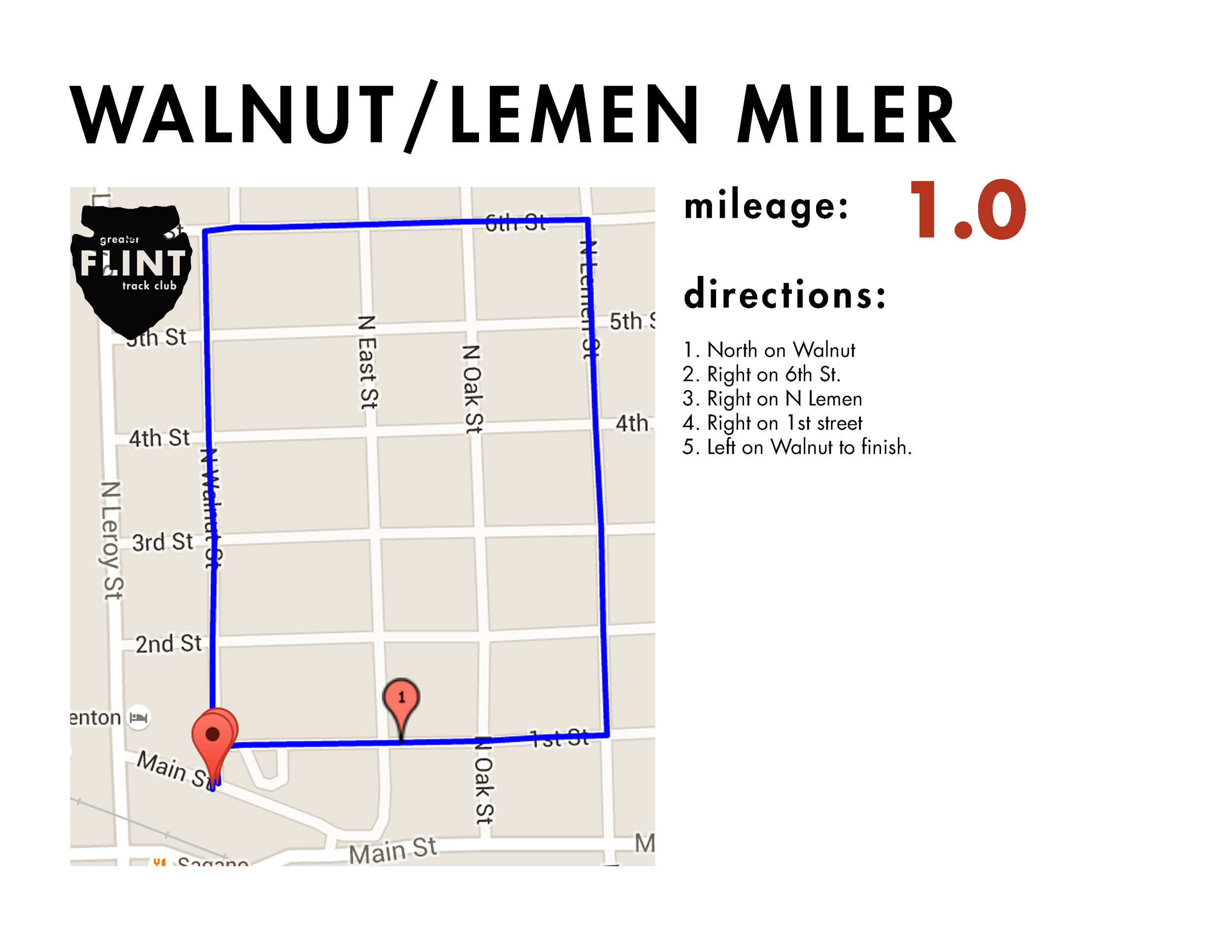 test your mile speed or run this as a short add on to any run. Perfect for beginners that need an accessible route with turn-offs or add-ons available. Also a square so that is nice for navigation.