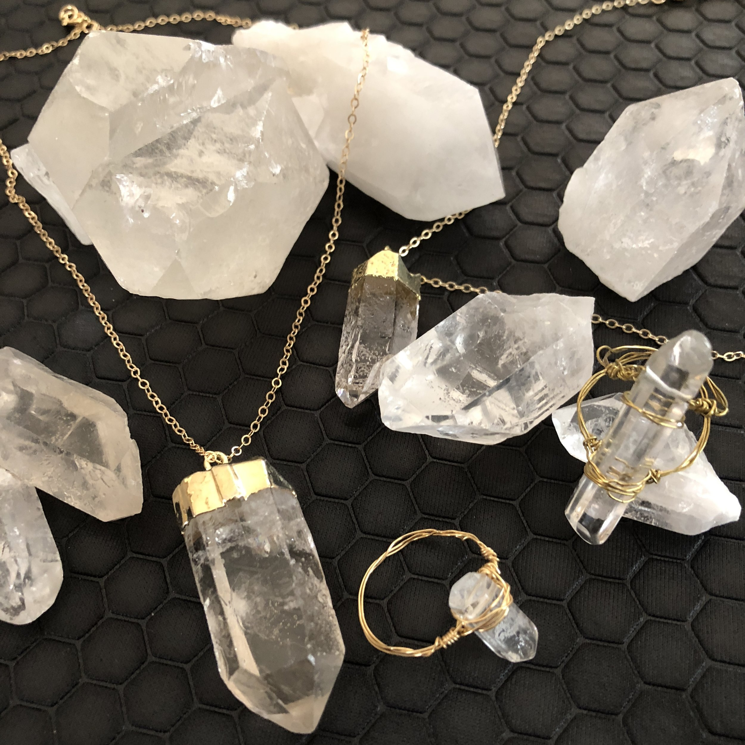 Crystals - 100% Pure LoveCrystal selection varies. No two crystals are alike which adds a uniqueness to your Jesus Piece. The crystals are imperfectly perfect.