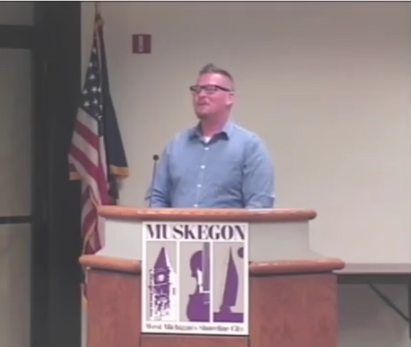 Jeff spoke at the Muskegon City Commission Meeting to share the plans for Nipote's