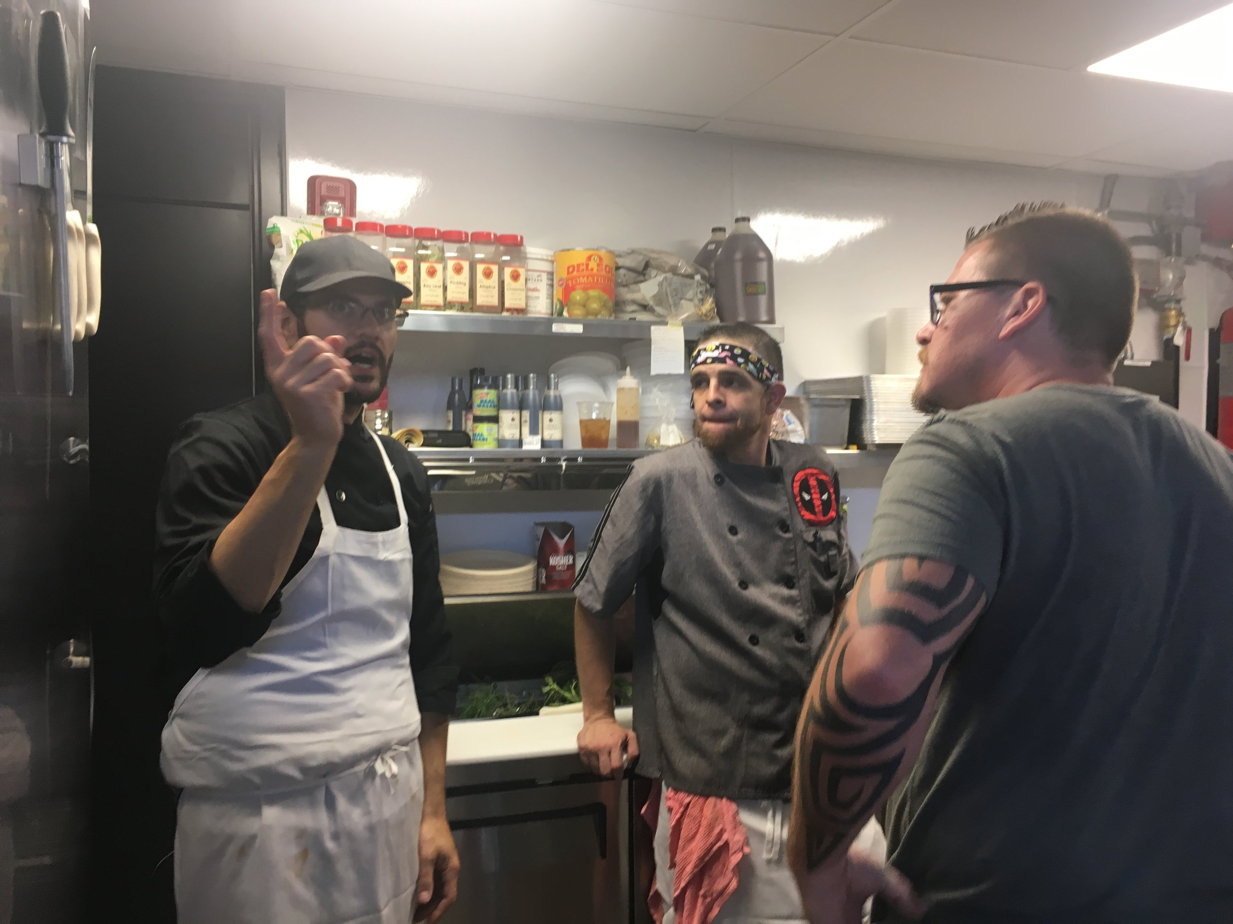Chef Petro showed Jeff around the kitchen, what an awesome guy!