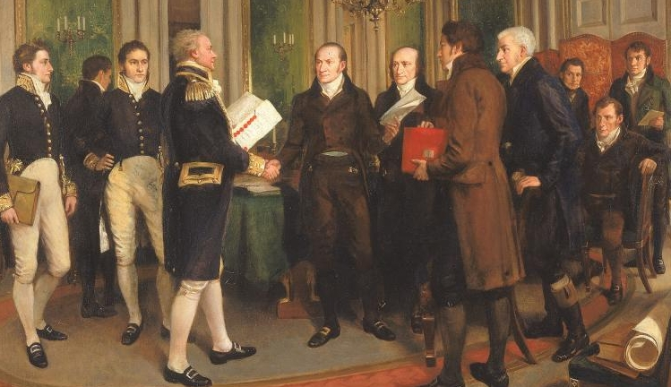 Treaty of Ghent, ending War of1812