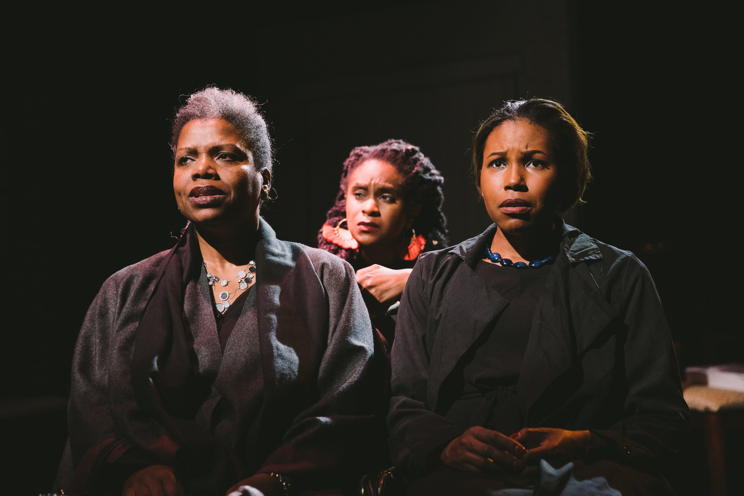 Photo by Mae Koo Photography.  Lorinda Hawkins Smith, Kacie Rogers, and Cloie Wyatt Taylor in THE WILLOWS.JPG