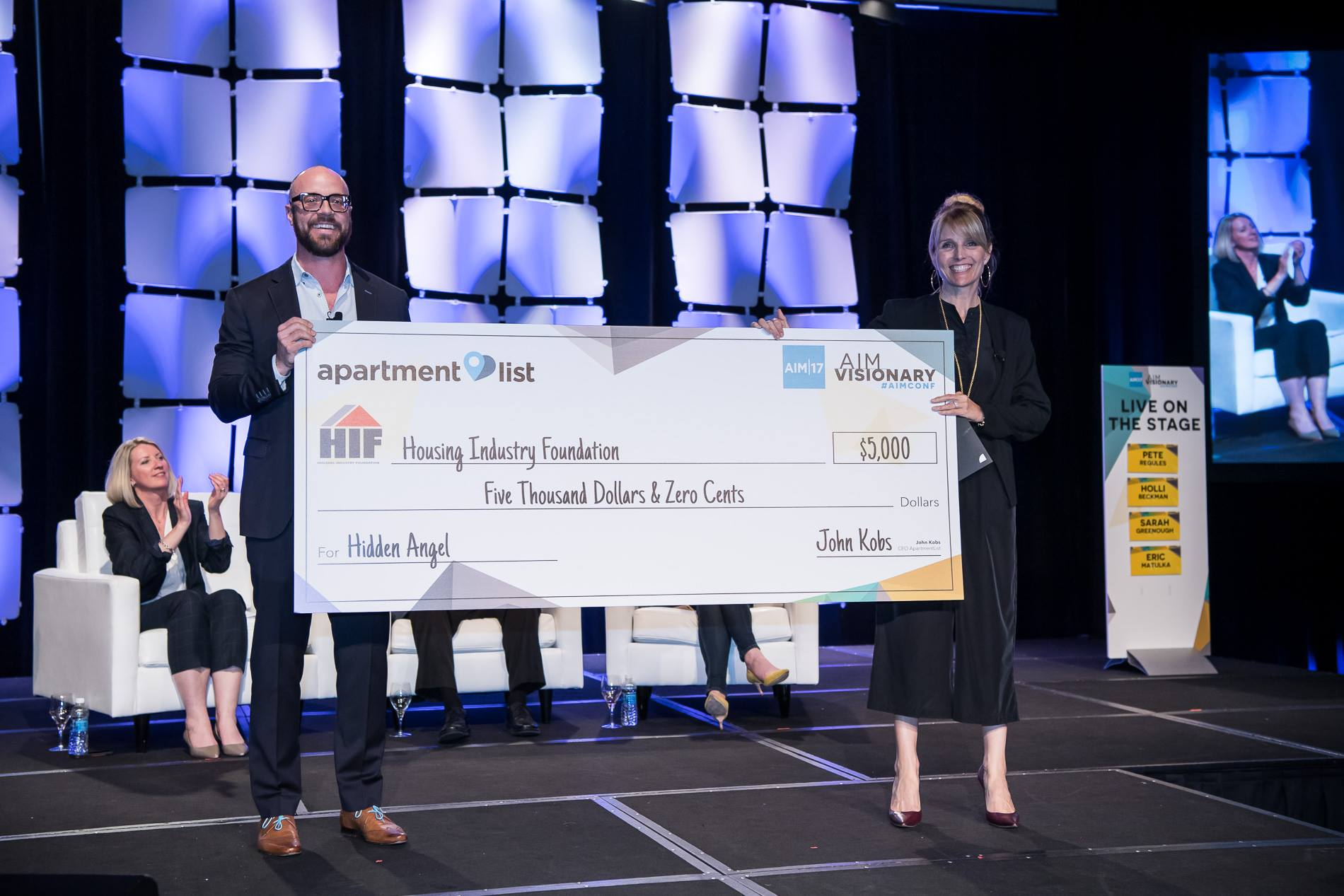 Apartment List donates to the Housing Industry Foundation - May 2017   Apartment List couldn't be more excited to be donating to such an amazing cause in HIF