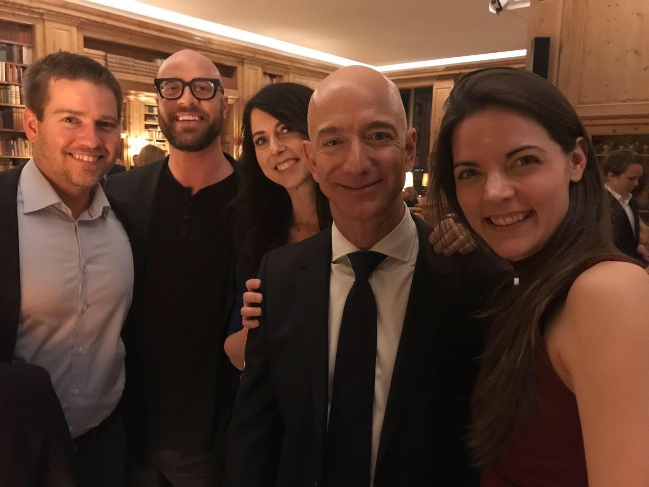 John & Jeff Bezos, CEO of Amazon - April 2018   John meets Jeff and Mackenzie Bezos at the Axel Springer award ceremony hosted in Berlin, Germany.