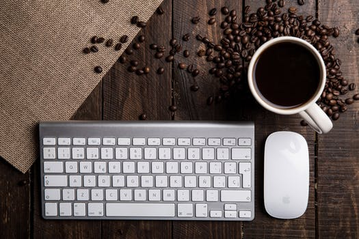 Coffee and Keyboard - Ready to Work