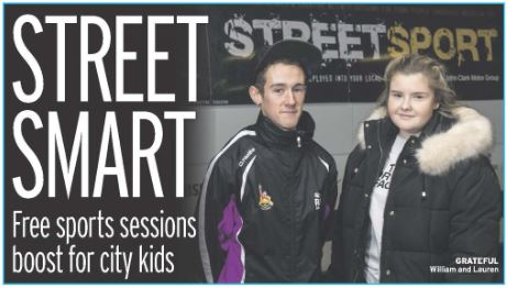 Streetsport, of the Denis Law Legacy Trust were featured in the Daily Record on 07/11/18