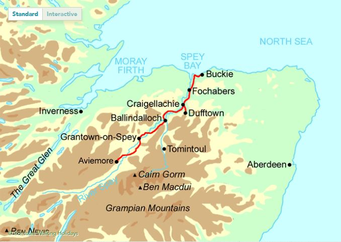 The Speyside Way route