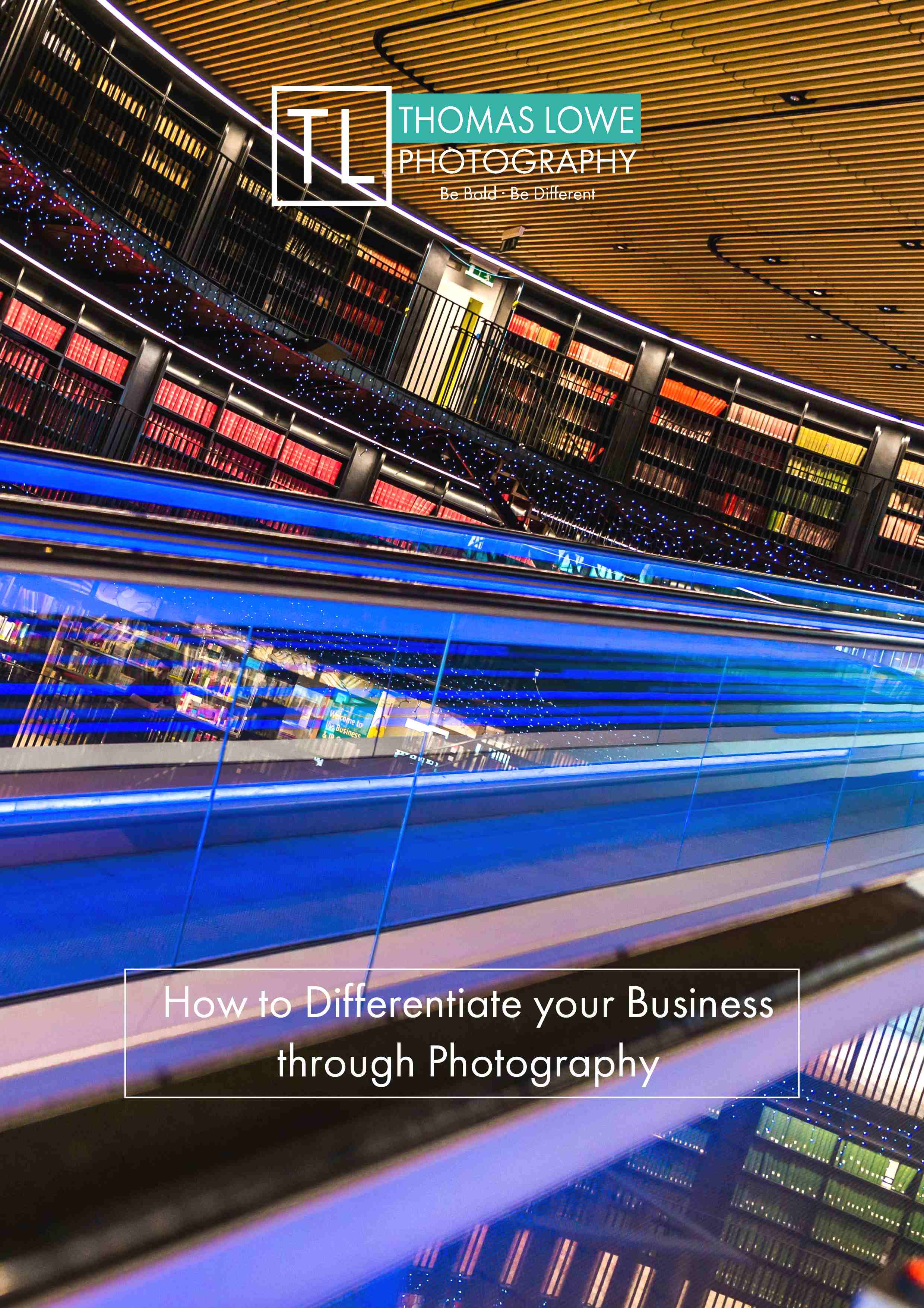 Front cover of 'How to Differentiate your business Through Photography' guidebook.