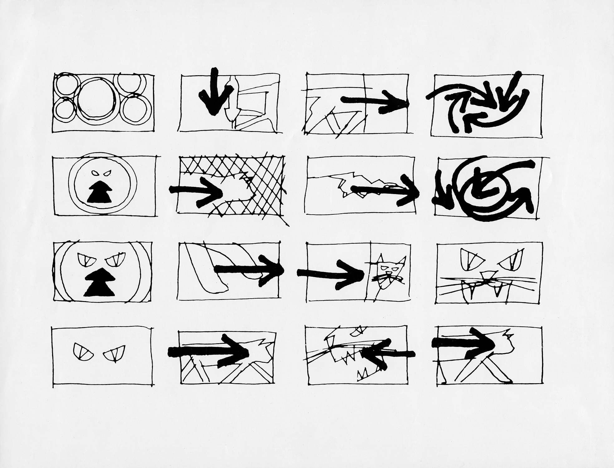 Simple storyboard for  Walk On The Wild Side  (1962).