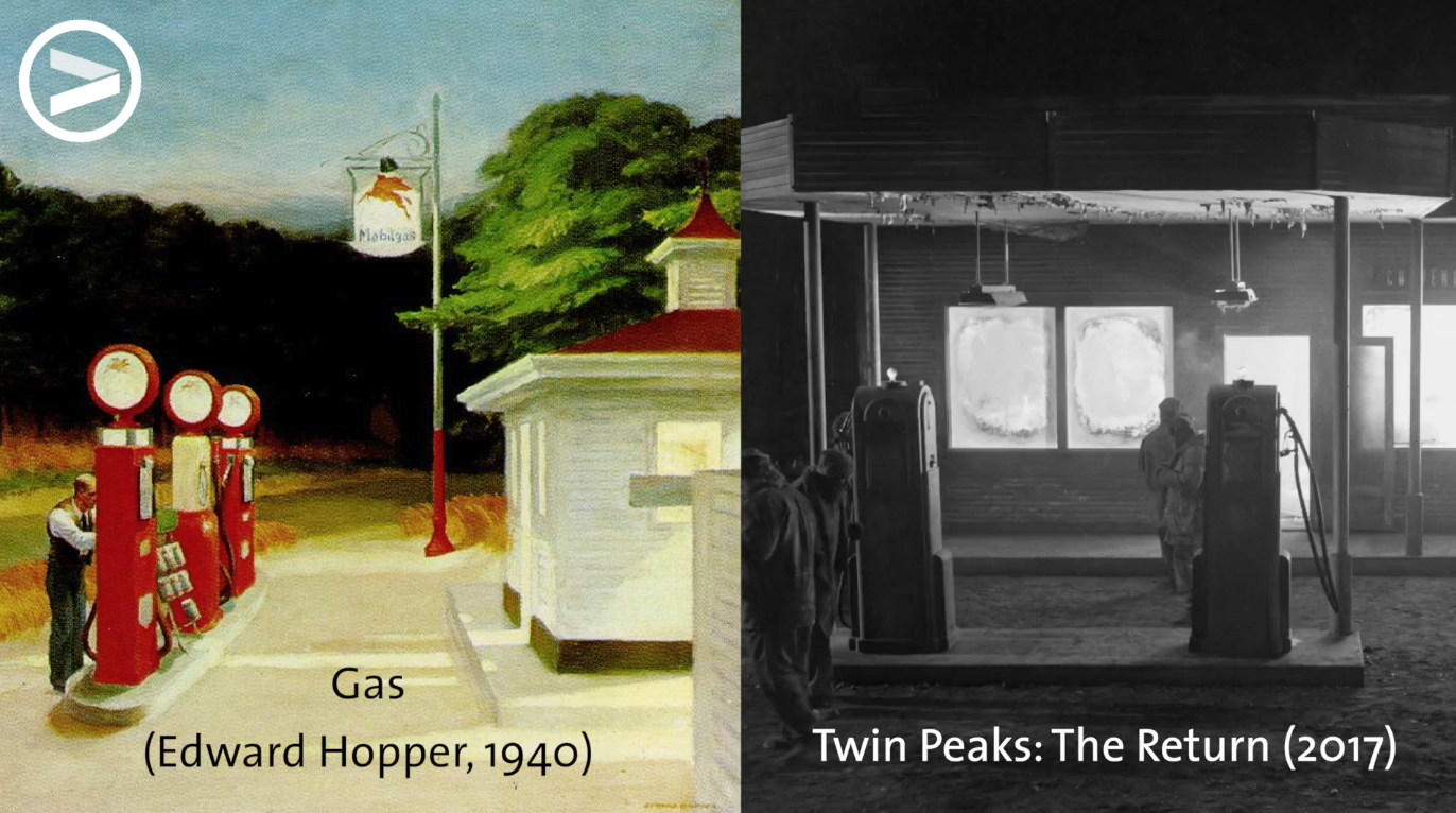 David Lynch is known to take find visual inspiration in paintings.