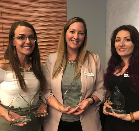 The Parkland County communications team, celebrating their big win night at the IABC Capital Awards 2018.