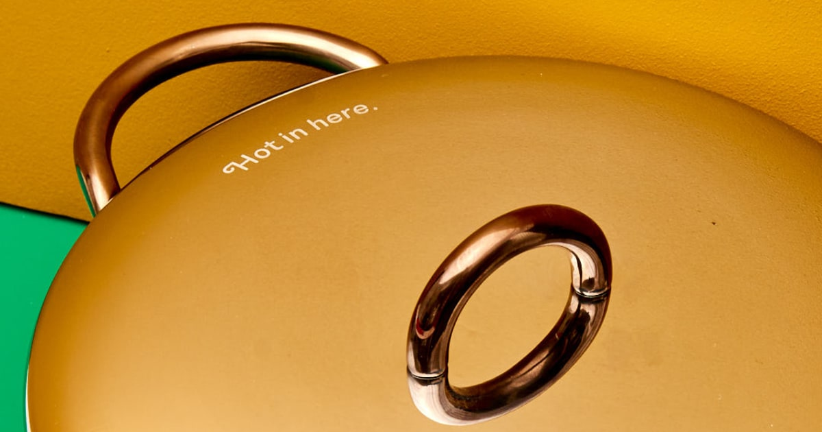 The option to personalize the lid with a saucy engraving.