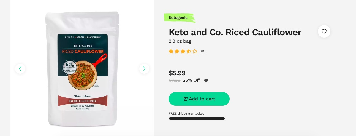 keto riced cauliflower