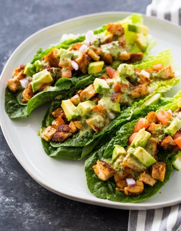 Keto Chicken Taco Wraps