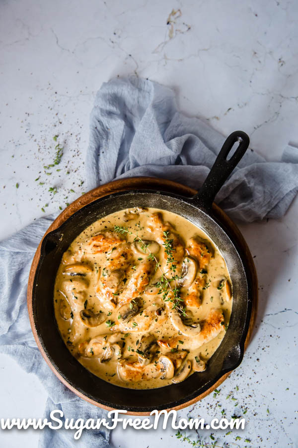 Keto Creamy Chicken and Mushroom