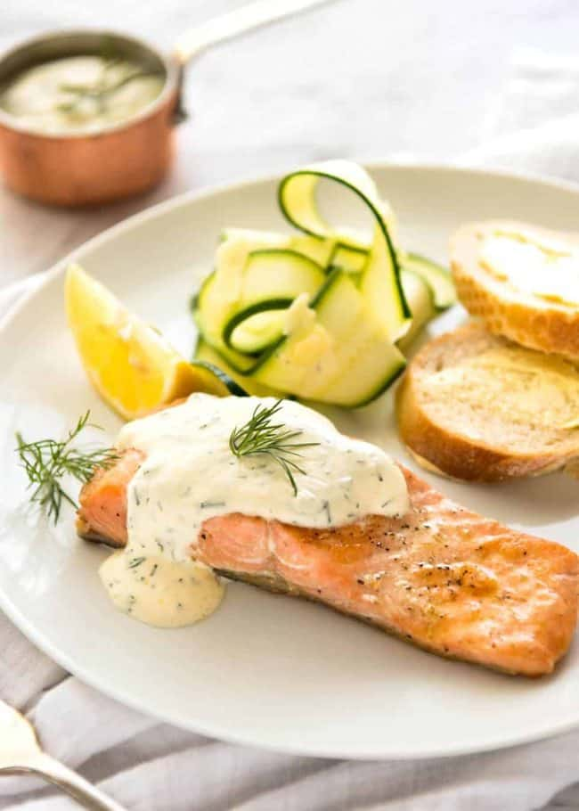 Keto Salmon with Dill Sauce