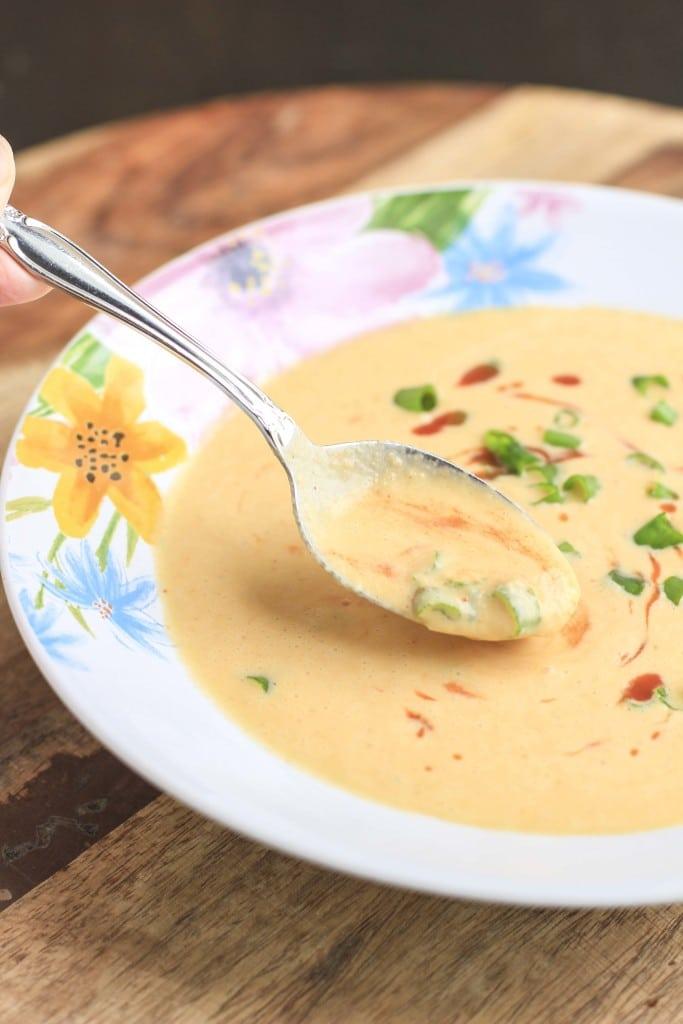 Keto Thai Cauliflower Soup