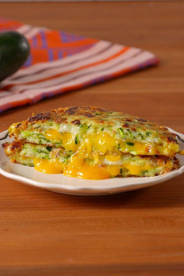 Keto Zucchini Grilled Cheese