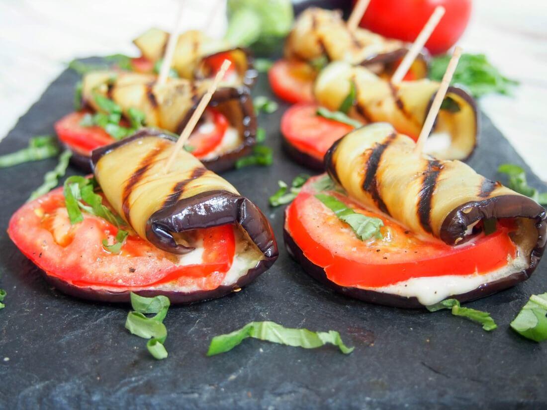Keto Eggplant Rollups
