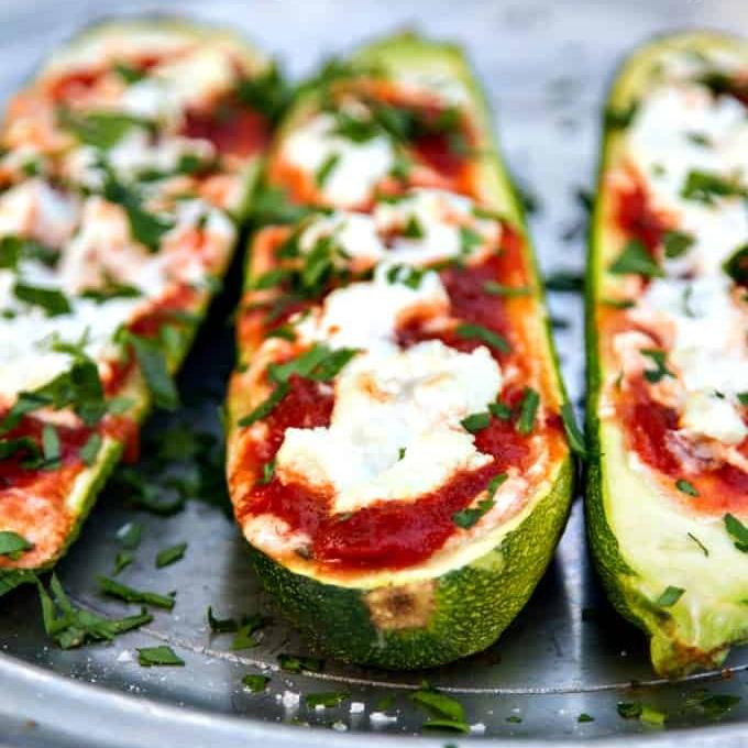 Keto Stuffed Zucchini