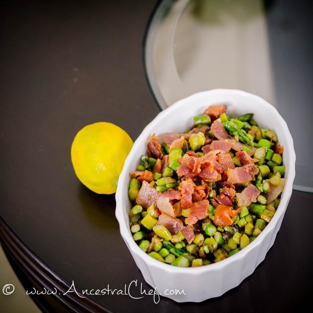 Keto Asparagus Bacon Saute