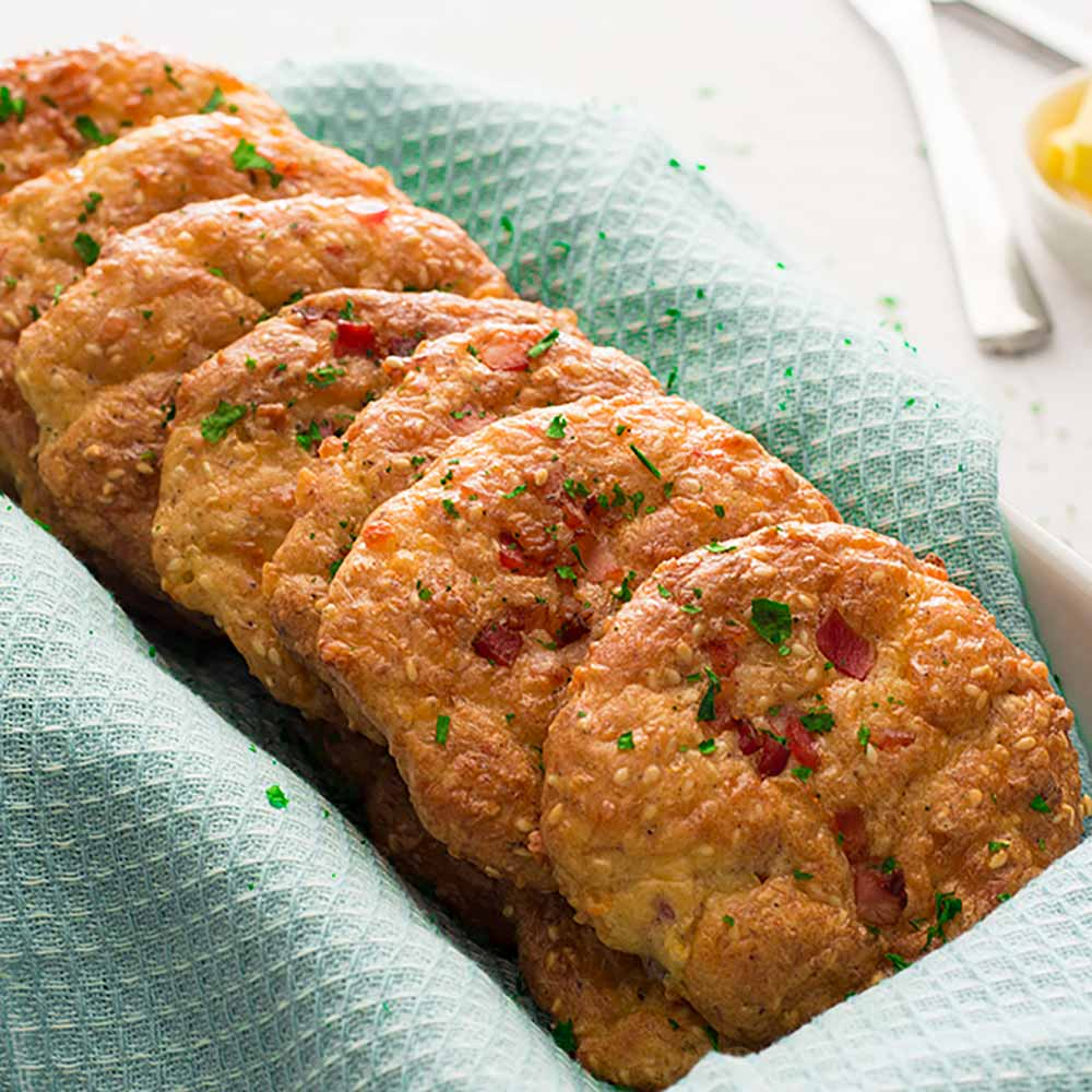 Keto Bacon Cheese Rolls