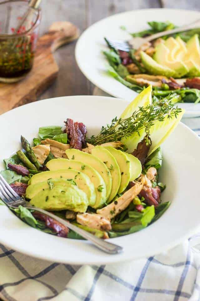 Keto Bacon Roasted Salad