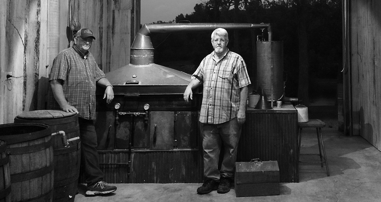 AJ built our still by hand to be a precise replica of one of his grandfather's masterpieces.