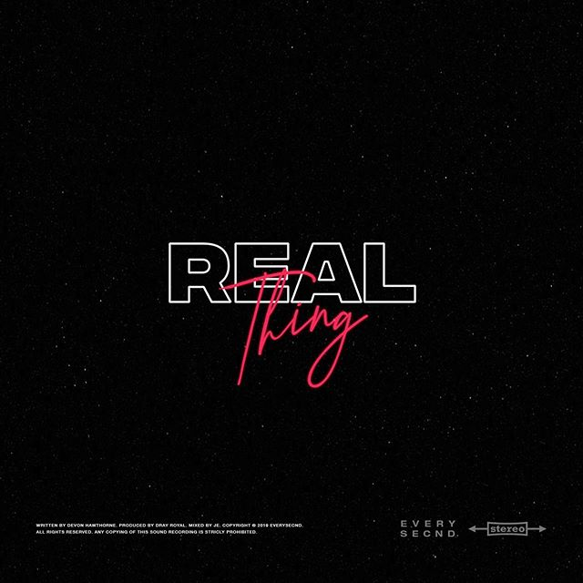 Listen to my latest release 'Real Thing' available now on Soundcloud and Youtube. Link in bio.