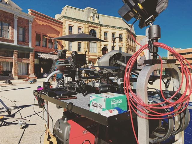 On set with a messy drone cart... #setlife #gabedlp #inspire2 #atomos