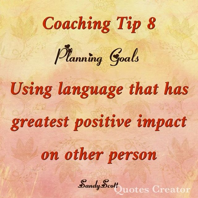 Planning goals thru a coaching mindset is focused on early successes important to the other person. #empowerment #coaching #physicianwellbeing
