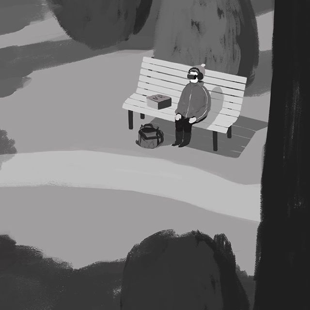 Another unused piece #sketch #blackandwhite #illustration #painting #vr #summertime