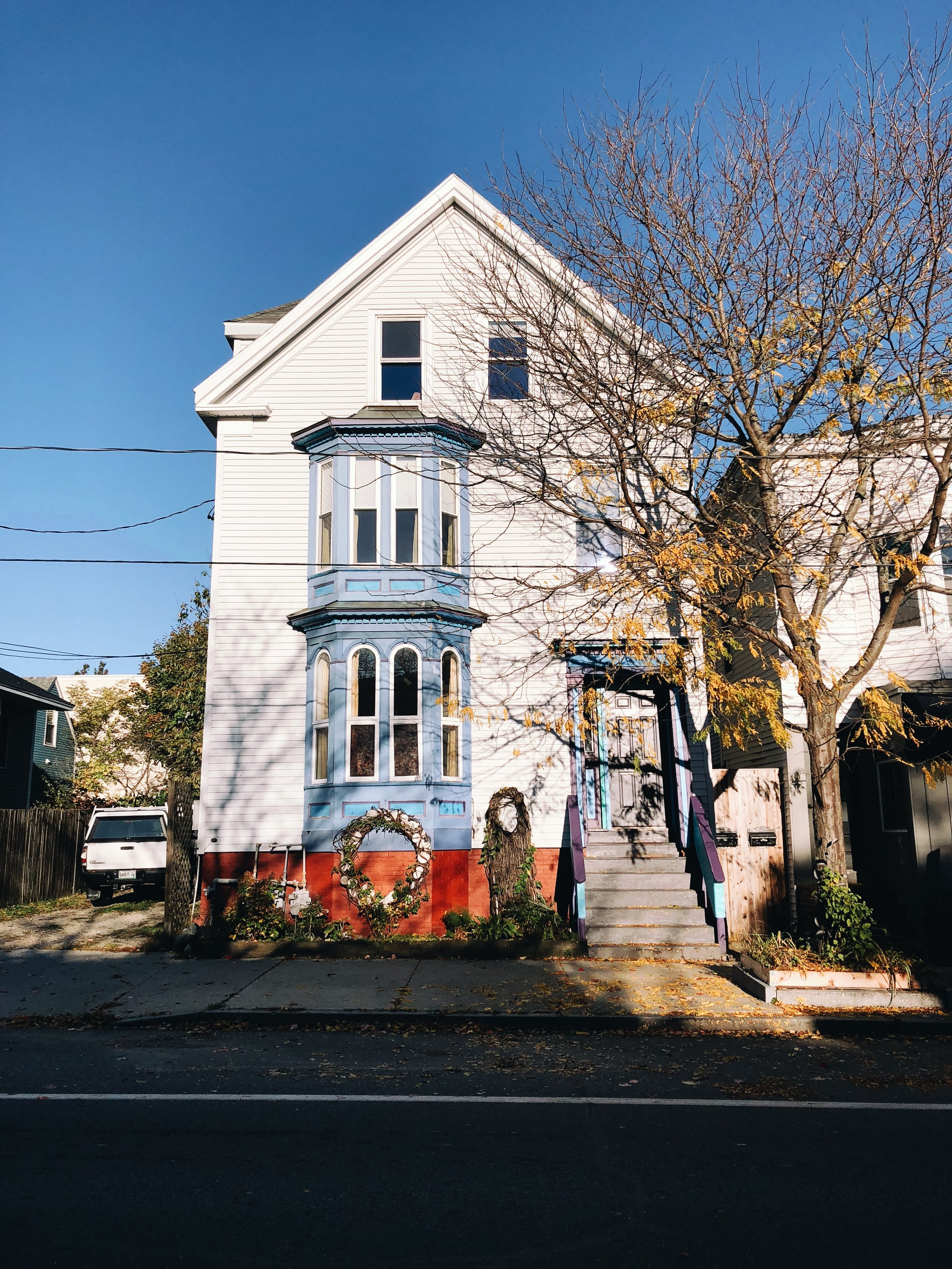 Walking through Munjoy Hill, a neighborhood in east Portland