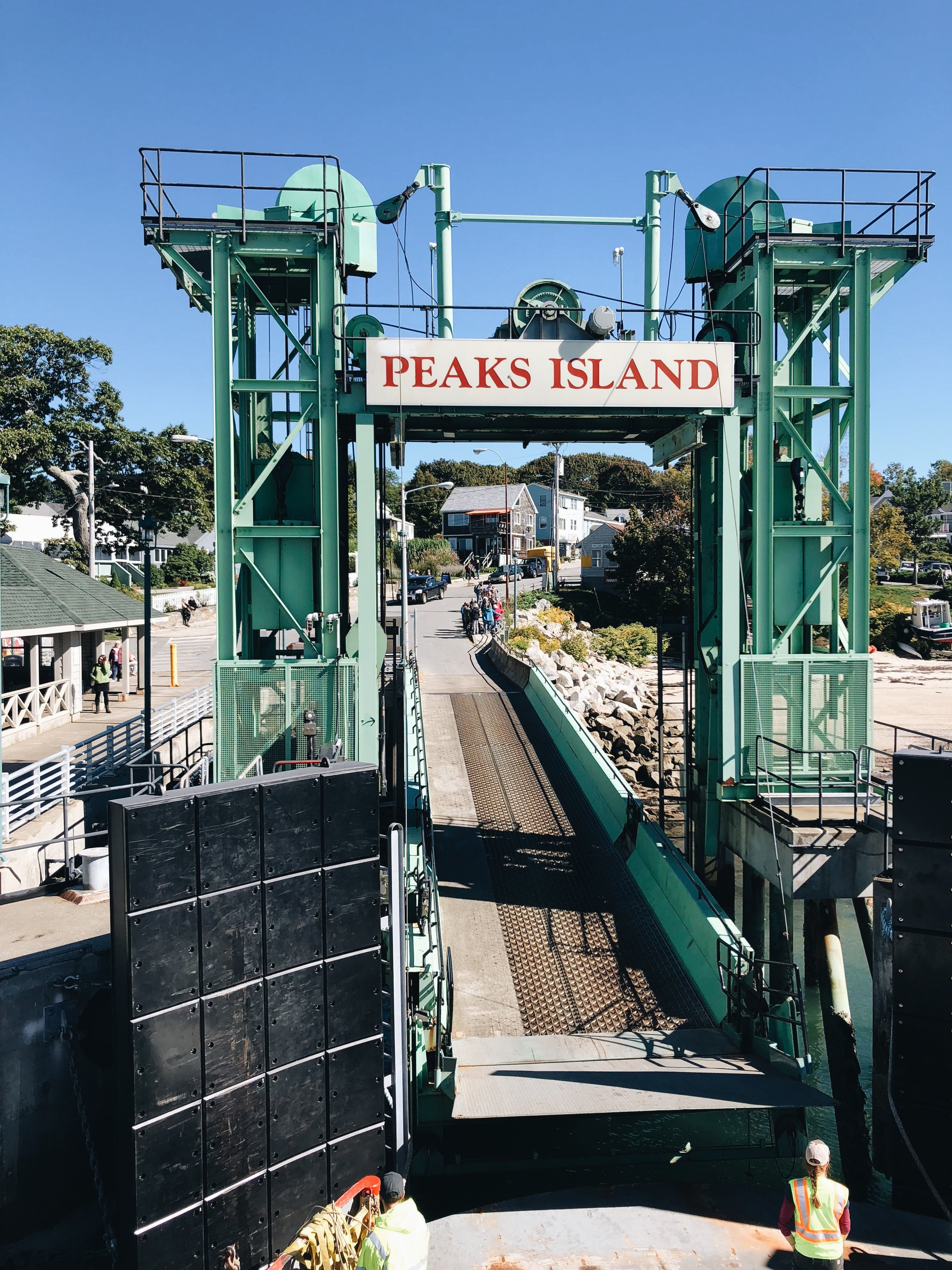Arriving at Peaks Island via a ferry ride