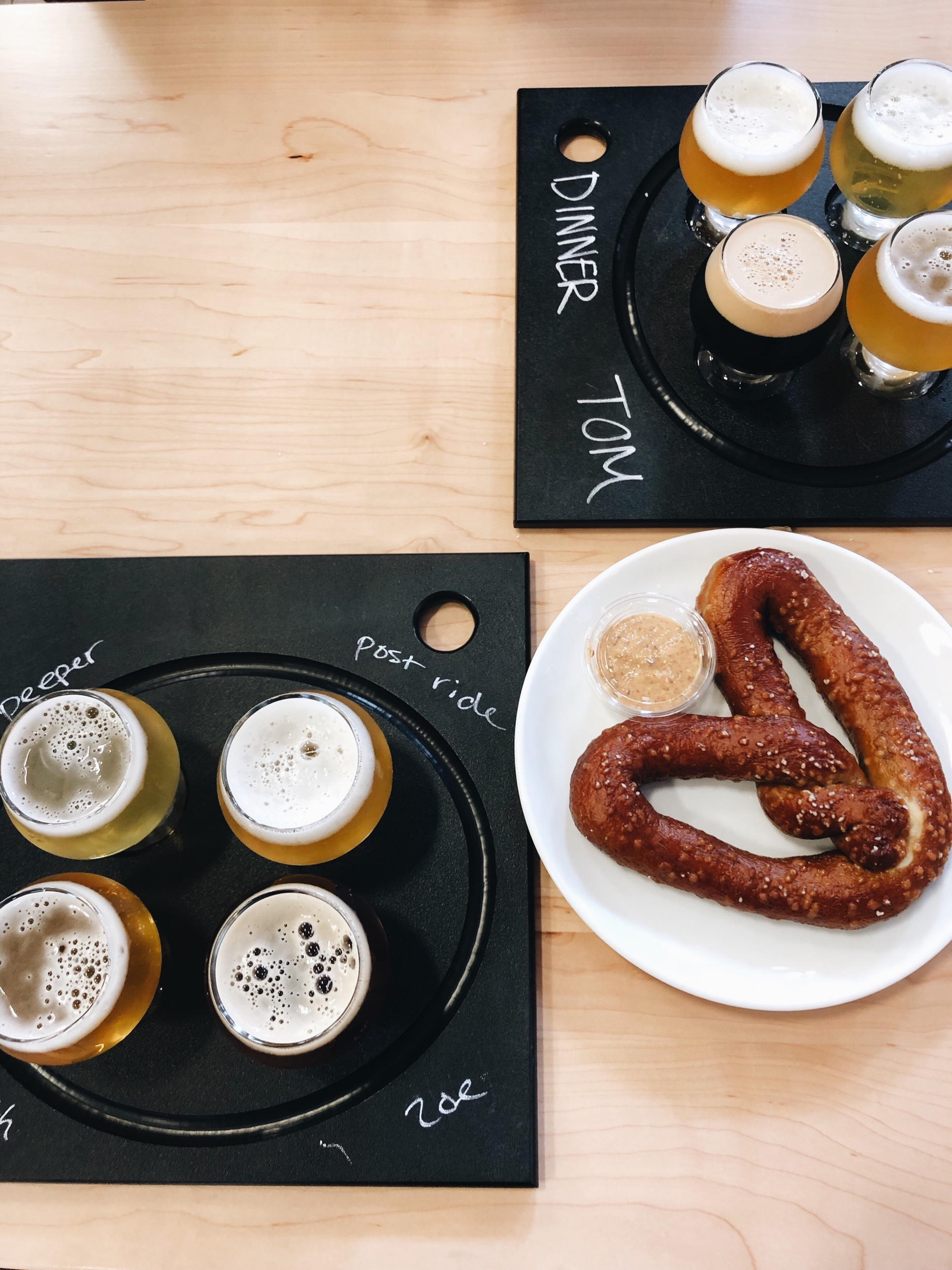 Beer flights and a seriously good pretzel at Maine Beer Co.