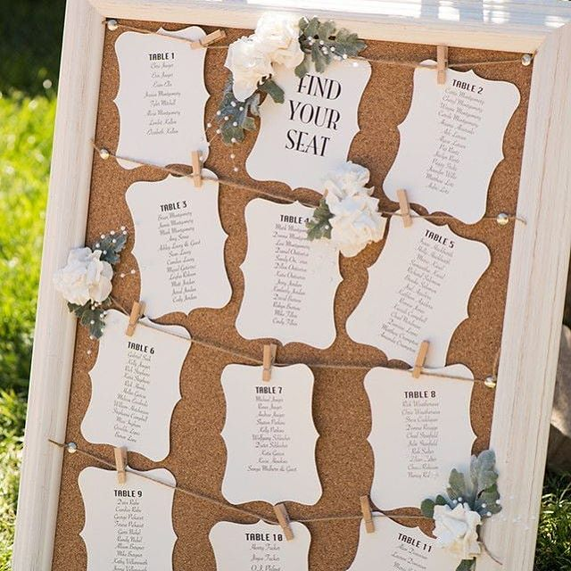 "Seating Charts for a wedding are like music sheets to a musician. When placing your guests you want to make sure it's a pleasant and enjoyable experience. Plus guests love to know that you were thinking of them by choosing where they sit and with whom.  Here are 5 tips to help you create ""fire"" proof seating charts.  1. Plan Seating Early - at minimum 1-2 weeks prior 2. Make it Visual - don't be afraid to doodle circles on a paper until you figure it out 😉 3.Tension Taming - identify those friends/family members with unresolved issues and be sure they are far apart 4. Head Table - don't forget you and your wedding party, traditionally it's a separate (straight) table facing everyone else...VIP BABY! 5. Don't forget your parents - unless you're looking for trouble be sure to give them a special place with the best view 💕"