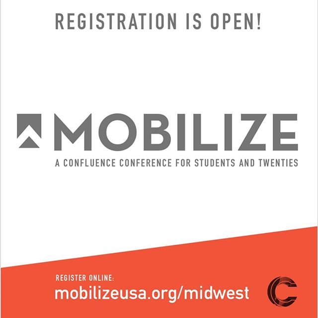 A gathering of students and twenties (ages 18-29), Mobilize exists to inspire and equip a generation to leverage their lives for God's purposes. Join us on October 25th–27th, as we seek to grow individually in our relationships with God, grow relationally with one another, and grow outwardly in our mission with Jesus. Mobilize will be held in three regions this year: the Midwest, Northeast, and Northwest. Details for each region's conference can be found on the Mobilize website (link in bio). We can't wait to see you there!