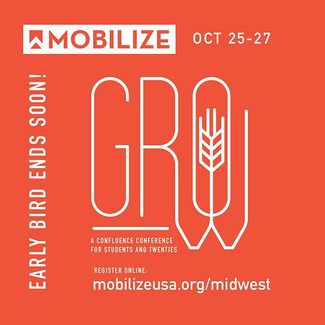 **MOBILIZE MIDWEST** EARLY BIRD DEADLINE IS ONE WEEK FROM TODAY! Link in bio! #registertoday‼️ #mobilizemidwest #confluencechurches