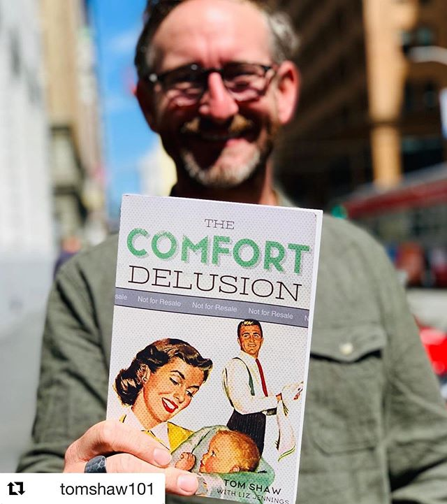 "Tom Shaw, leader of the @sanctuarychurchsf church plant, has written a new book, The Comfort Delusion! It is now available for pre-order (see details below)! #Repost @tomshaw101 ・・・ Thrilled to announce you can now PREORDER MY FIRST BOOK here:  LINK IN BIOG  Excerpt from intro: ""I love comfort. I love my daily comfortable routine. The trouble is, comfort is a liar. All this comfort is killing me. It's a liar you see. It's the road to death. Comfort always promises so much yet always always always leads to a hollow and souls destroying conclusion.  This book flowed out of my own personal struggles with the God of comfort. My desire is to draw you closer into Gods comfort, because so many of our problems come (the quiet boredom, the creeping sense of entitlement, the inability to be thankful) when we pursue comfort in and of itself, rather than as a natural overflow from a real relationship with Jesus Christ.  Comfort itself is not wrong but if it's not found in Christ it becomes a deadly trap, a delusion that quickly ensnares""  Massive well done to brilliant Liz Jennings whose worked so closely with me to turn this previous sermon series into a book.  I do believe the subject looked at here is more relevant than ever to so many in this age of unparalleled wealth for so many. May it challenge, encourage and transform you."