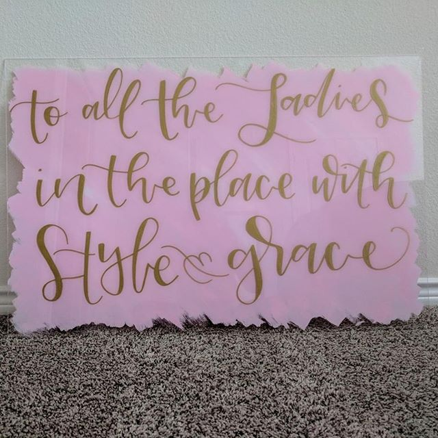 This beauty was the biggest acrylic I've done to date, and was so. much. fun. (and also terrifying to ship, ha!) This is going in a new little baby girls room and I just love love love the idea of this little girl growing up next to these words. 😍 (Especially since this is from a Biggie Smalls song, YES) . .  #austintexas #austinwedding #austinweddingvendor #austincalligraphy #calligraphy #moderncalligraphy #prettywriting #handlettering #prettyhandlettering #austinweddings #etsyseller #communutyovercompetition #risingtidesociety #acrylicsigns #acrylicwedding #weddingwelcomesign