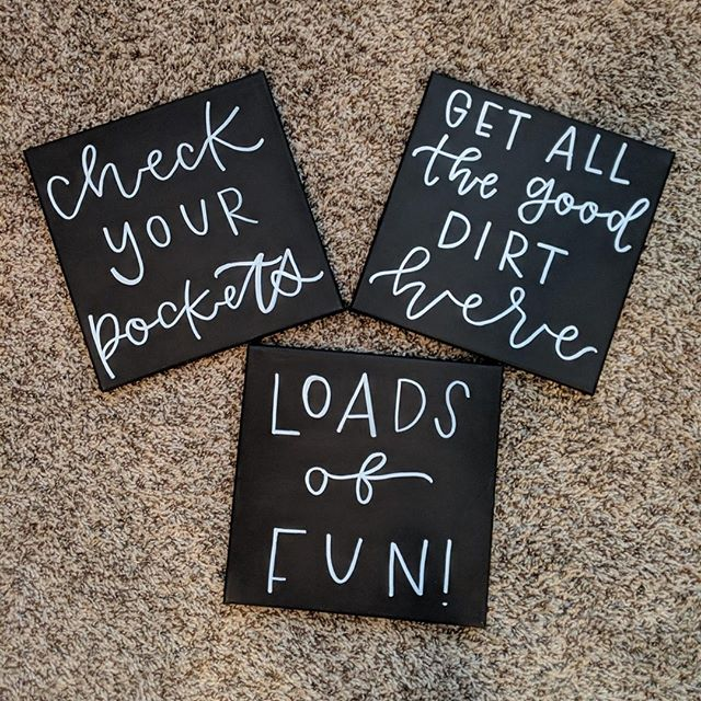 These cuties are off to hang in a laundry room, how cute is this!? I love me some puns to hang around the house. Thankfully, these signs came out stain free after an extra cycle😜 . .  #austintexas #austinwedding #austinweddingvendor #austincalligraphy #calligraphy #moderncalligraphy #prettywriting #handlettering #prettyhandlettering #austinweddings #etsyseller #communutyovercompetition #risingtidesociety #acrylicsigns #acrylicwedding #weddingwelcomesign #laundry #laundrysigns #signsforlaundryroom #signsforthehome
