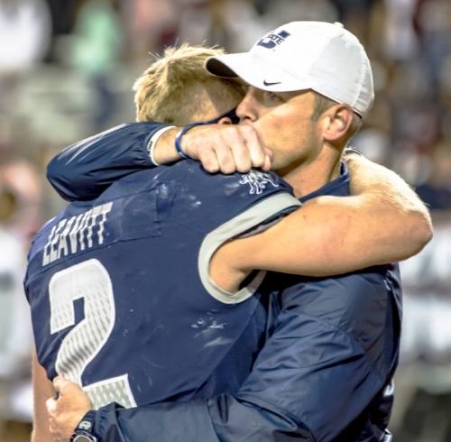 My hope is that I have impacted my players the way my dad impacted me (Photo courtesy of Utah State University Athletics)