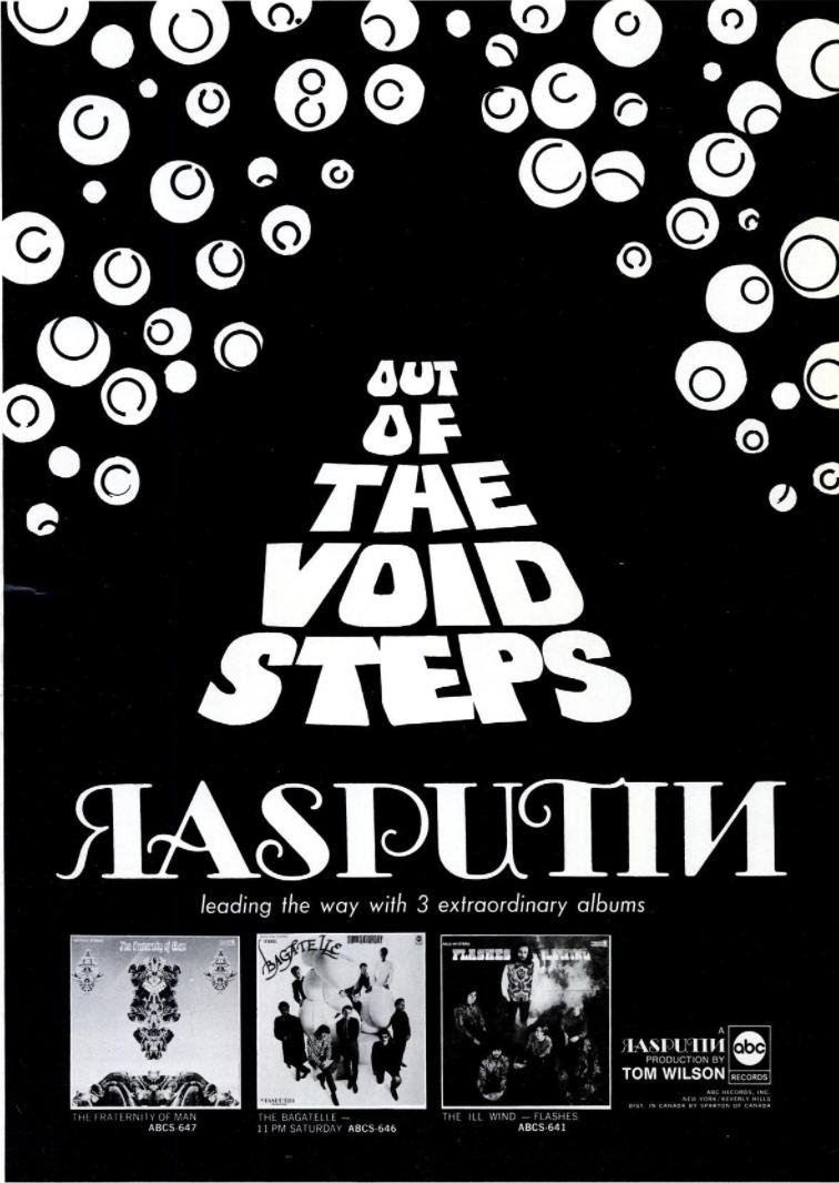 A Rasputin  Billboard Magazine  ad from July 13, 1968