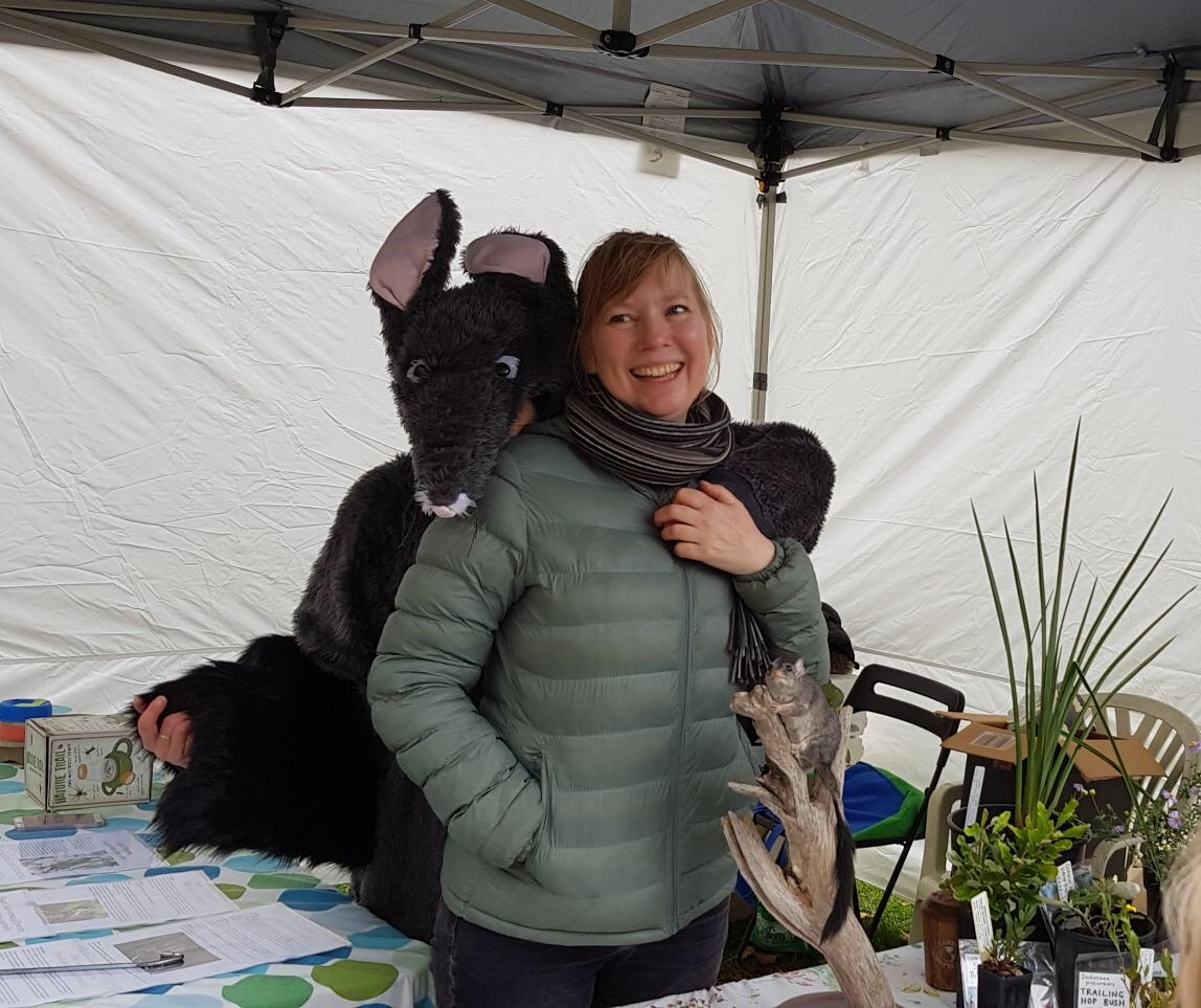 Phoebe the Phascogale and Threatened Species Conservancy Director Anna Murphy.