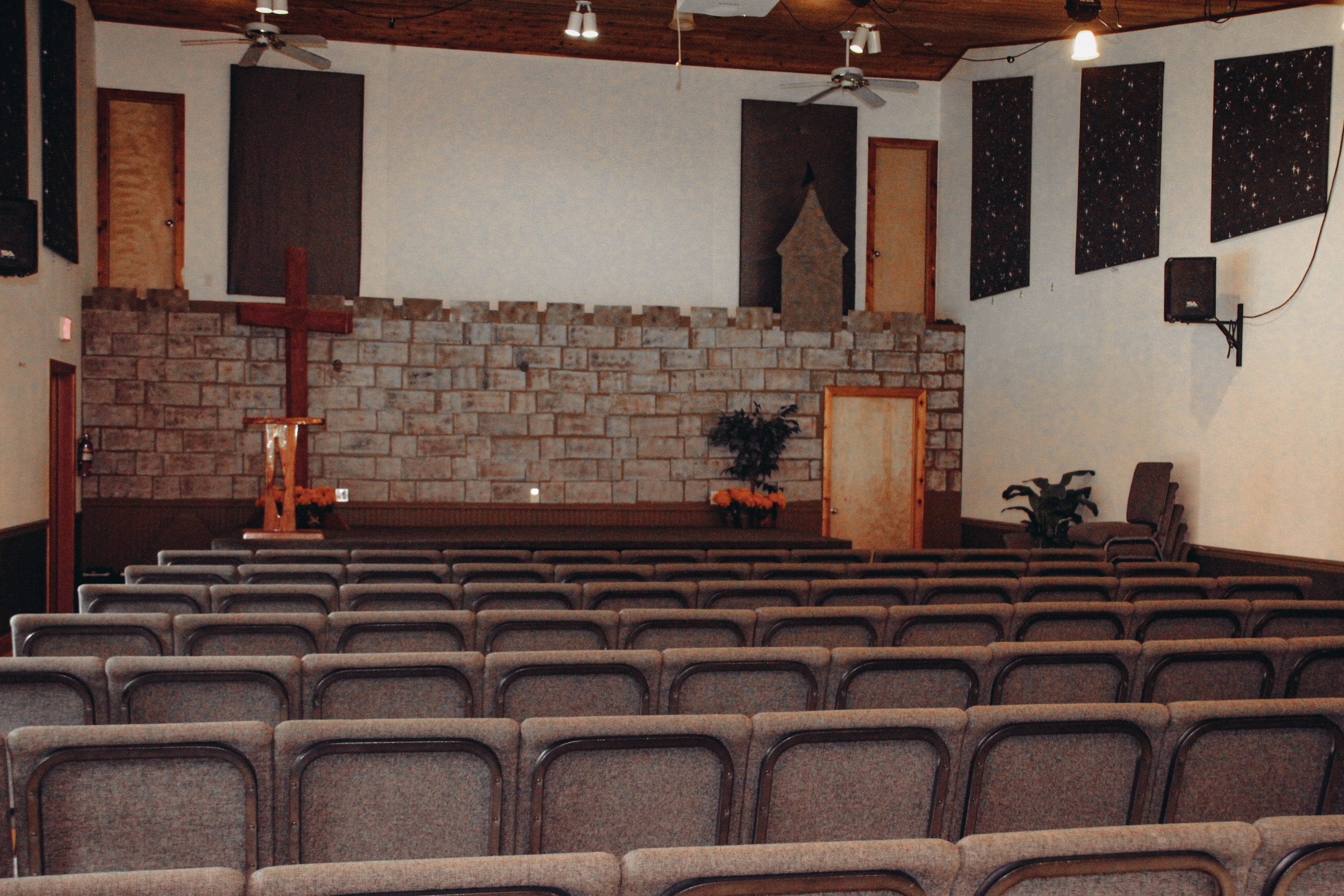 Our Chapel, seats ~125 people + a beautiful fireplace