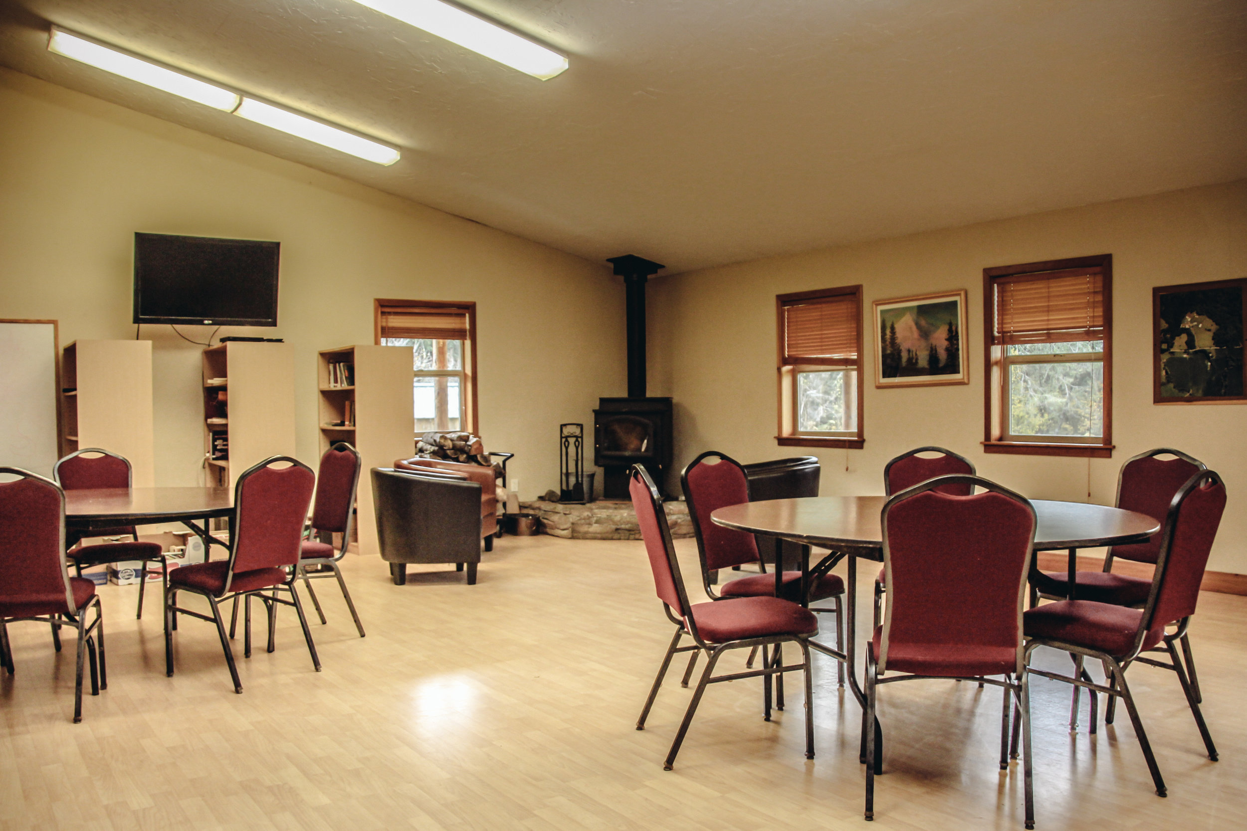 Our Small Meeting Room, seats 40 people + a Fire Place