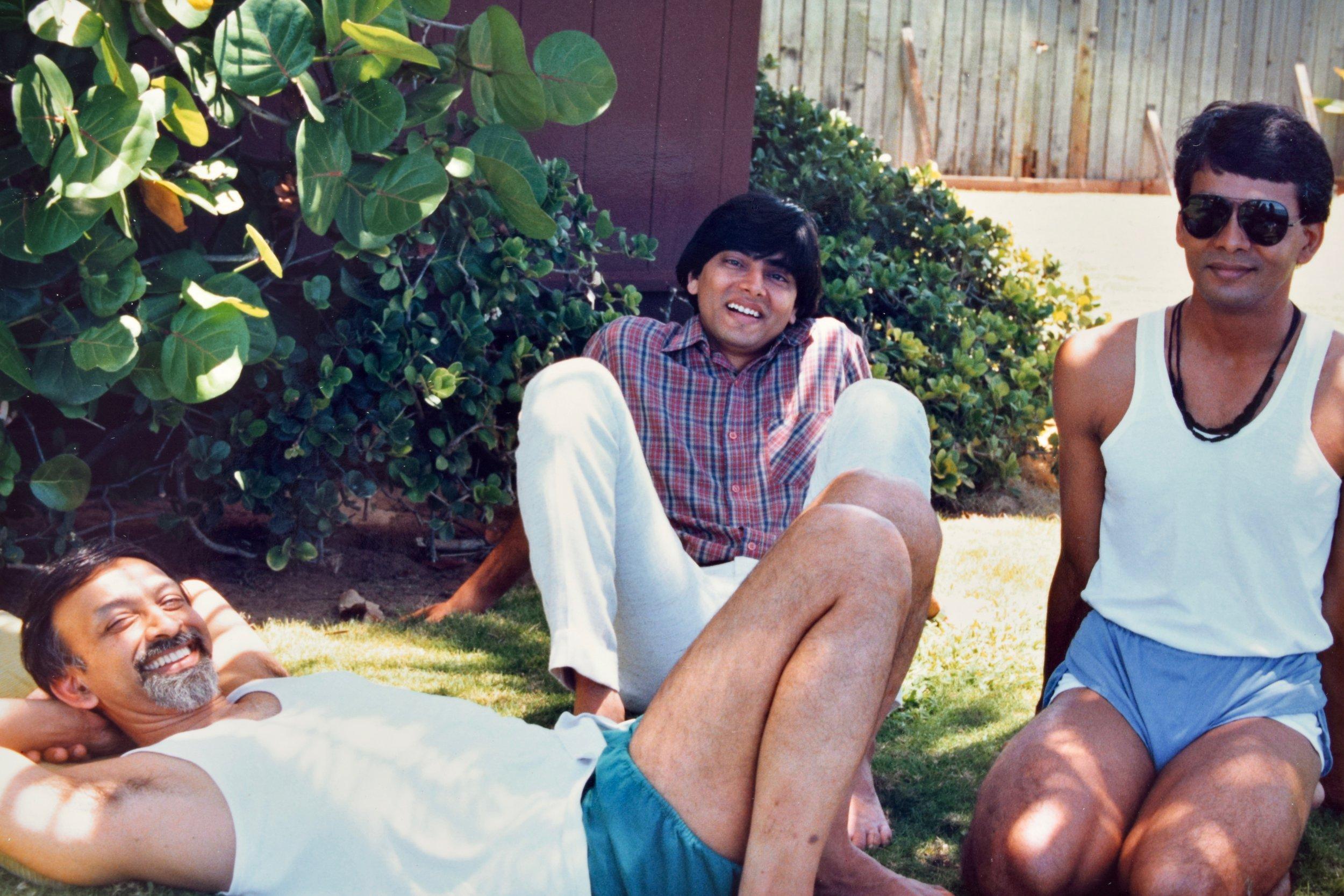 Ramanand Patel, Birjoo Mehta & Jawahar Bangera relaxing on the North Shore