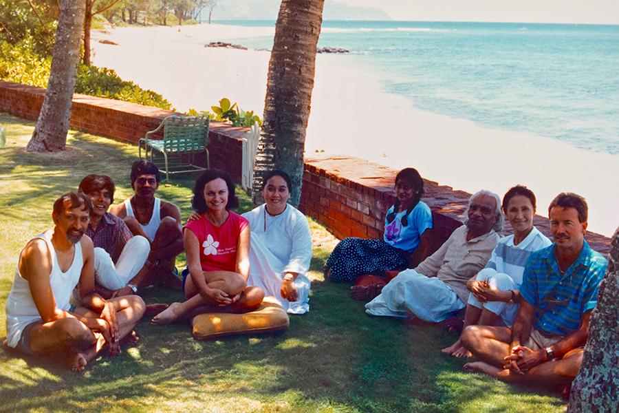 Guruji says it's like home under the coconut trees
