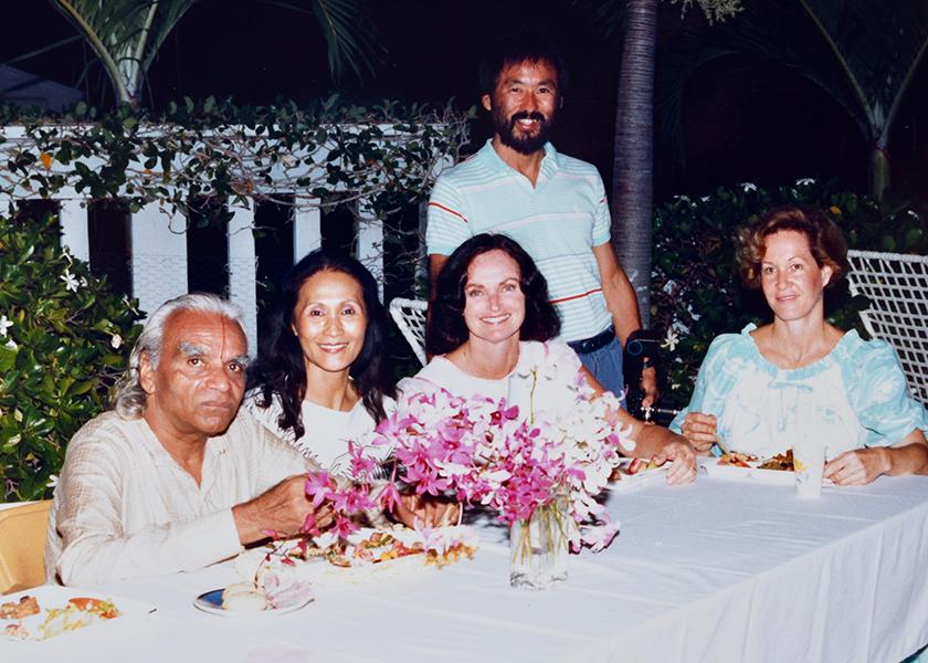 Luau dinner with SDC teachers, Ae Ja, Sandi, Glenn & Penney